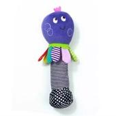Мягкая игрушка погремушка пищалка в руку
