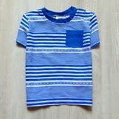 Новая стильная футболка для мальчика. Удобная застёжка на плече. F&F. Размер 9-12 месяцев