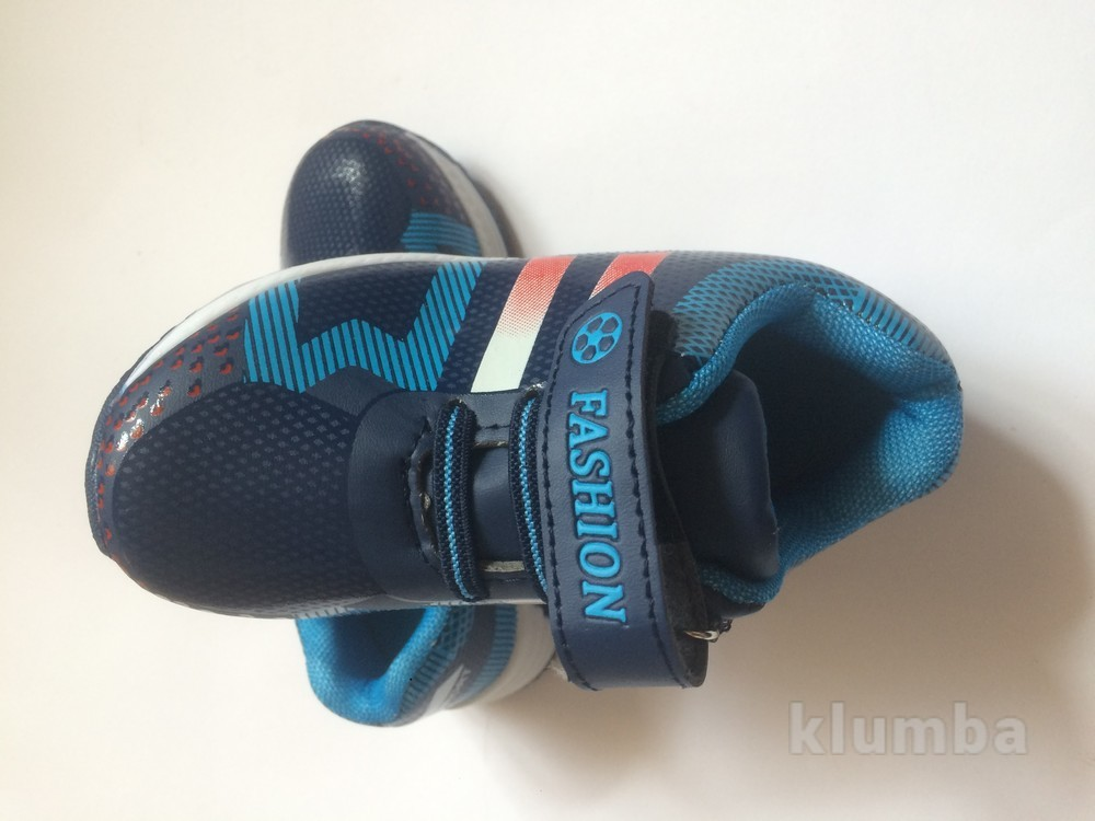 Кроссовки для мальчика с красной вставкой фото №3