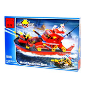 Конструктор 906  Пожарные спасатели, брик Brick , 340 деталь