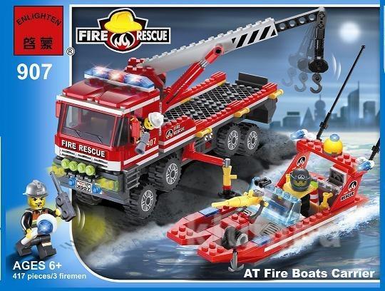 Конструктор 907 пожарные спасатели, брик brick , 420 деталь. фото №1