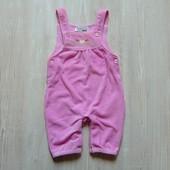 Нежный вельветовый комбинезон для девочки. Внизу удобная застёжка. Ergee. Размер 2-4 месяца