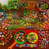 Мини еда,овощи,фрукты для игр или Барби. Набор 20 шт. Детки в восторге!