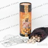 Настольная игра Русское лото в тубе Danko toys (Украина), тубус мешочек, деревянные бочонки