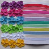 Пов'язки з фетру (3 квіточки)