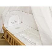 Детское постельное белье в кроватку с вышивкой Корона