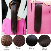 11-1 Хвост из искусственных волос 55 см прямой