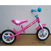 Беговел  Stamp Barbie 10 дюймов колёса, (pink-white)