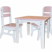 Столик детский и 2 стульчика Цветные