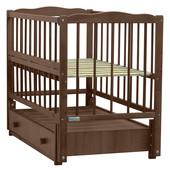 Baby Sleep кроватка Aurora с ящиком Nussbaum (орех)