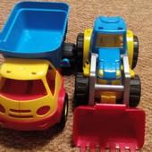 строительная техника самосвал и трактор