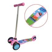 Скутер лицензионный - Peppa (3-х колесный, 2 колеса впереди, тормоз)