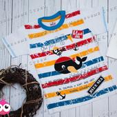 Яркая футболка на мальчика 104 110 размер, хлопок Турция