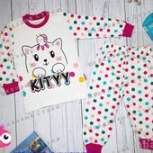 Пижама для девочки Hello Kitty, 104 размер, 100% хлопок, мягенькая и приятная к телу Турция