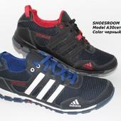 Скидка!! Летние мужские кроссовки Adidas, кожа+сетка, разные цвета