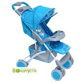 Прогулочная коляска детская Bambini King с чехлом Blue Pirate