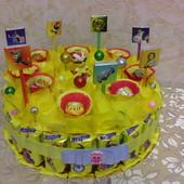 Букет из конфет, детский торт