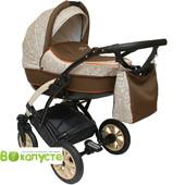 Универсальная коляска детская Anmar Infiniti 08N, цвет коричневый с бежевым