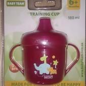 Поильник 6+ фирмы Baby Team для малышки (Training cup)