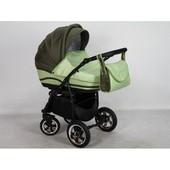 +видео! Универсальная детская коляска Anmar Zico 08, цвет оливковый