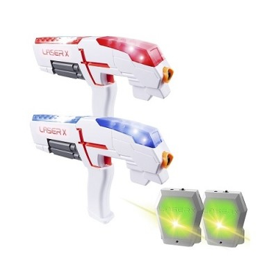 Игровой набор для лазерных боев laser x для двух игроков бластер лазер мишень фото №1