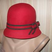 яркая эффектная фетровая шляпа 100% шерсть