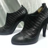 Ботильоны - ботинки Chanel оригинал, цвет - пыльный черный.