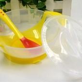 Набор для кормления:тарелка на присоске, крышка, термочувствительная ложка