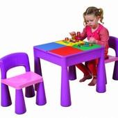 Детская мебель стол+2 стула Tega baby Mamut