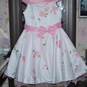 Нарядное праздничное платье Стиляги выпускной на 6-7 лет