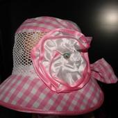 Панама для девочки «Маленькая леди» размер 50-54 распродажа