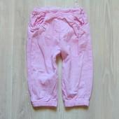 Лёгкие вельветовые штаники для девочки. Идеальный летний вариант. Нежный цвет. Lupilu. Размер 9 мес