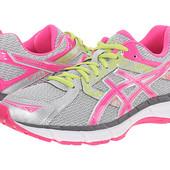 Asics кроссовки серебристые с розовым бренд Gel-Excite оригинал из сша р. 37