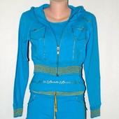 Спортивный костюм тройка, стрейч бирюза р. 48 - 50, 3 ХЛ