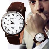 Мужские наручные часы с коричневым ремешком код 182