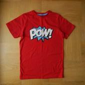 134-146 см Cubus как новая фирменная футболка хлопок. Длина - 60 см, ширина - 39 см. Без деф
