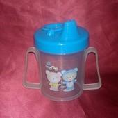 Пластиковая бутылочка для кормления с мерной шкалой 180.0(мл)