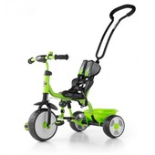Велосипед 3х колёсный Milly Mally Boby  2015 с подножкой (green)