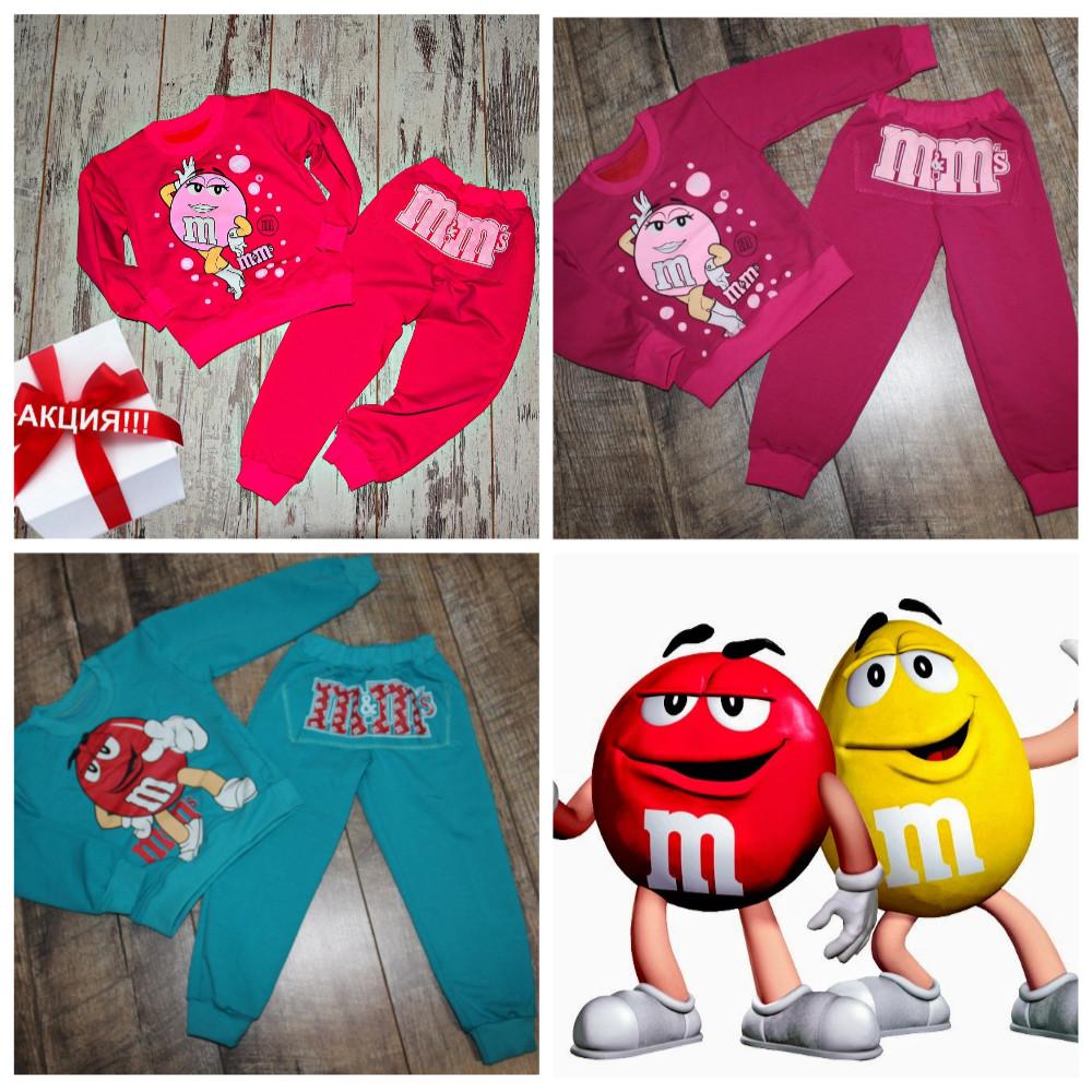 Костюмы для девочек и мальчиков на 1-6 лет-цвета и накатки разные фото №2