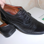Туфли оксфорды с отрезным носком натуральная кожа р. 44
