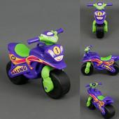 Музыкальный байк спорт фиолетовый 0139/6 мотоцикл Долони