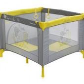 Манеж - кроватка детская Bertoni Play Station (yellow elephants)