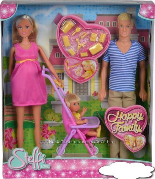 Кукольный набор happy family семья штеффи беременная simba оригинал фото №1