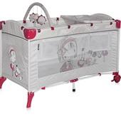 Манеж детски 2  уровня + пеленальный столик/дуга с игрушками Bertoni Arena 2 Layers Plus (grey girl)