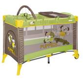 Кроватка-манеж 2 уровня+пеленальный столик/дуга  Bertoni Arena 2 Layers plus beige&green bears