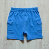 Новые трикотажные шортики для стильного мальчика.  George. Размер 0-3 месяца, будут до года минимум.