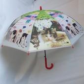 Детский зонт с котятами, возраст 3-10 лет