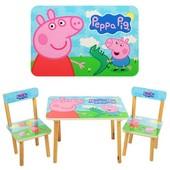 Столик со стульчиками Свинка Пеппа
