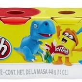 Набор массы для лепки 448 г. Play-Doh  4 баночи от Hasbro динозавр динозавры плей до динозавтрами