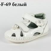 100-F-69 белый , Детская обувь пинетки Clibee, цвет-белый, размеры 10-13